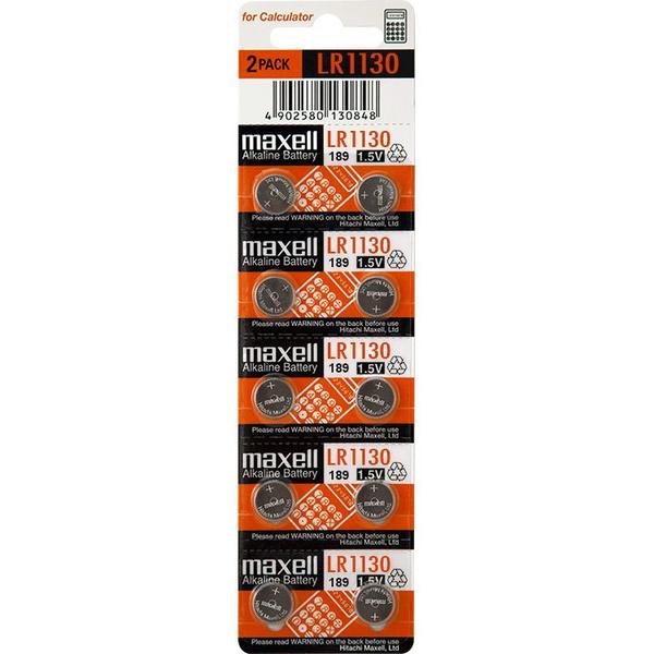 lr54 lr1130 189 maxell pile de bouton alkaline 10pce. Black Bedroom Furniture Sets. Home Design Ideas
